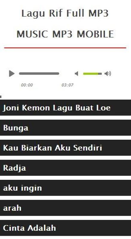 Lagu terbaik rif mp3 for android apk download.