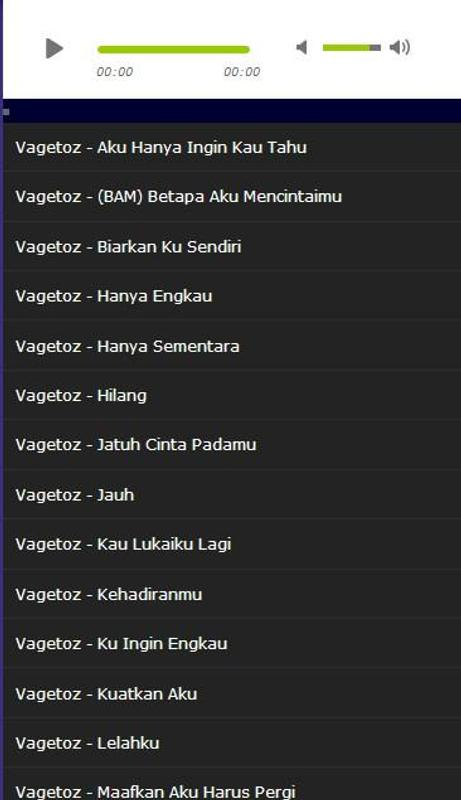 Lagu Vagetoz Hits Mp3 For Android Apk Download