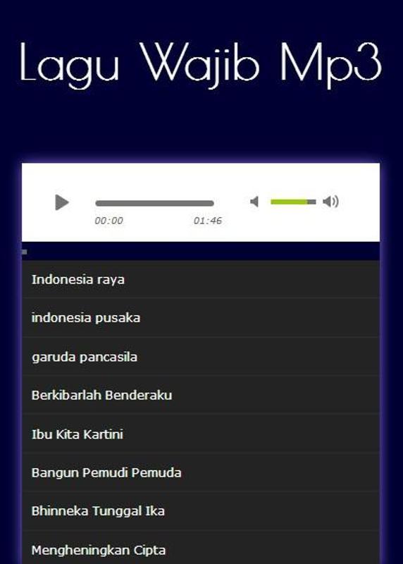 Lagu Wajib Nasional Indonesia Mp3 For Android Apk Download