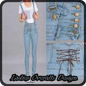 Ladies Overalls Design icon