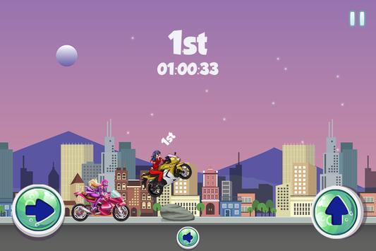 Ladybug Vs Princess Power Racing Game poster