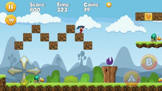 Running Ladybug Hero Chibi apk screenshot