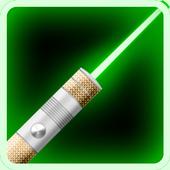 color laser flashlight simulation game icon