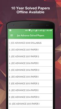 10 Years Jee Advance Solved Papers Offline poster