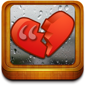 Heartbreak and sadness quotes icon