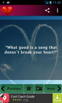 Heartbreak and sadness quotes poster