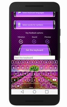 Lavender Keyboard Skin apk screenshot