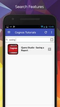 Tutorials for Cognos Offline screenshot 2