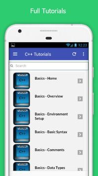 Tutorials for C++ Offline apk screenshot