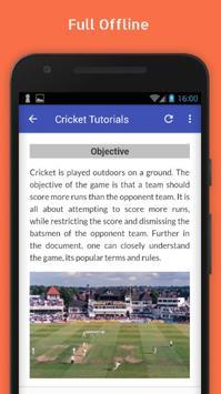 Tutorials for Cricket Offline screenshot 4