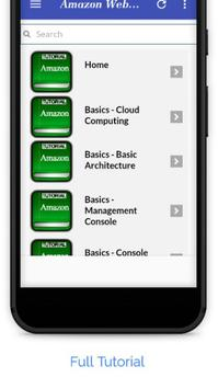 Tutorials for Amazon Web Services Offline apk screenshot