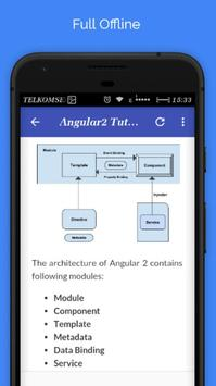 Tutorials for Angular2 Offline apk screenshot