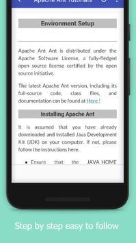 Tutorials for Apache Ant Offline apk screenshot