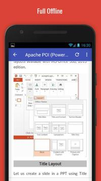 Tutorials for Apache POI (Powerpoint) Offline screenshot 4