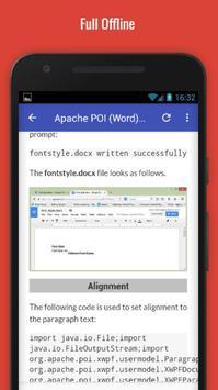 Tutorials for Apache POI (Word) Offline apk screenshot