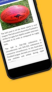 Tutorials for Australian Football Offline apk screenshot