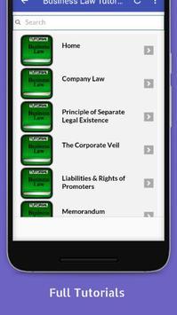 Tutorials for Business Law Offline screenshot 1