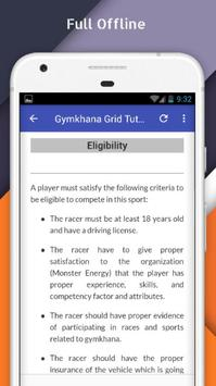Tutorials for Gymkhana Grid Offline apk screenshot