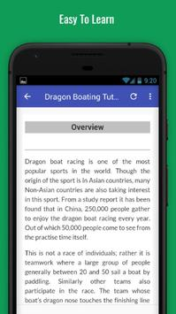 Tutorials for Dragon Boating Offline screenshot 2