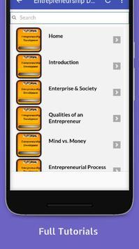 Tutorials for Entrepreneurship Development Offline screenshot 1