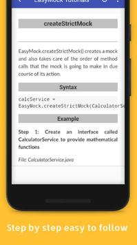Tutorials for EasyMock Offline apk screenshot