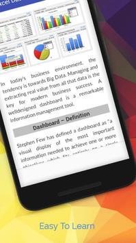 Tutorials for Excel Dashboard Offline apk screenshot