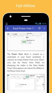 Tutorials for Excel Power View Offline apk screenshot