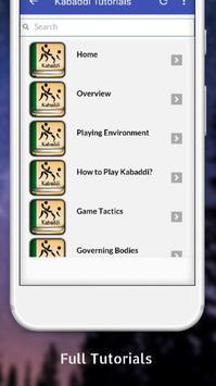 Tutorials for Kabaddi Offline screenshot 1