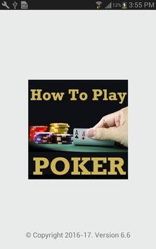 Learn How to Play POKER Cards poster