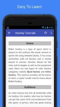 Tutorials for Hockey Offline screenshot 2
