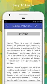 Tutorials for Hammer Throw Offline screenshot 2