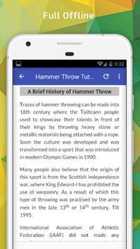 Tutorials for Hammer Throw Offline apk screenshot