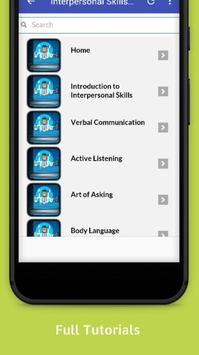 Tutorials for Interpersonal Skills Offline screenshot 1