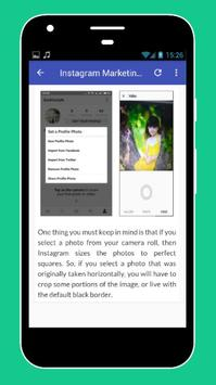 Tutorials for Instagram Marketing Offline apk screenshot