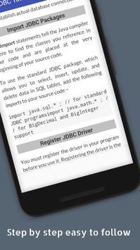 Tutorials for JDBC Offline screenshot 3