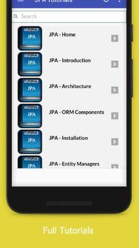 Tutorials for JPA Offline apk screenshot