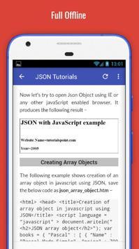 Tutorials for JSON Offline apk screenshot