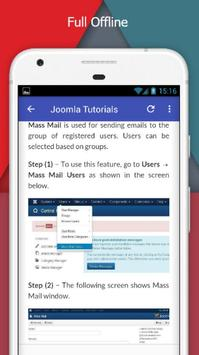 Tutorials for Joomla Offline screenshot 4
