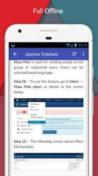 Tutorials for Joomla Offline screenshot 4