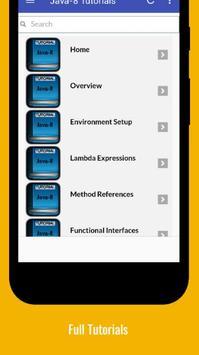 Tutorials for Java8 Offline screenshot 1