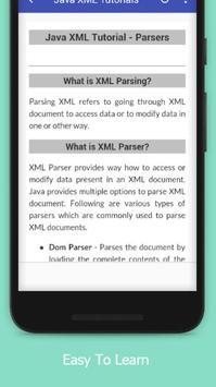 Tutorials for Java XML Offline apk screenshot
