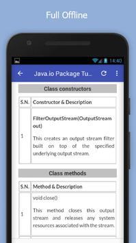 Tutorials for Java.io Package Offline screenshot 4