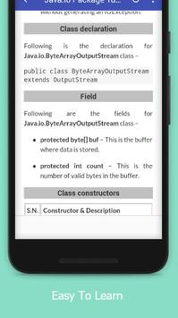 Tutorials for Java.io Package Offline screenshot 3
