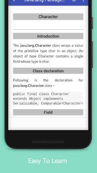 Tutorials for Java.lang Package Offline screenshot 3