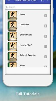 Tutorials for Javelin Throw Offline apk screenshot