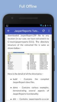 Tutorials for JasperReports Offline screenshot 4