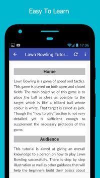Tutorials for Lawn Bowling Offline screenshot 2
