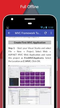 Tutorials for MVC Framework Offline screenshot 4