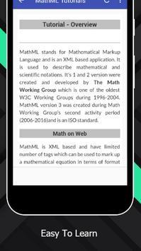 Tutorials for MathML Offline apk screenshot