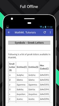 Tutorials for MathML Offline screenshot 4